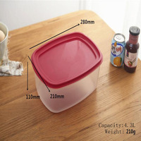 7 in 1 Food Container Environmently Food Grade Plastic Bento Fresh Keeping Box Fridge Multi Capacity Save Space 7pcs/Lot