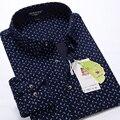 Nueva llegada Extra grande de primavera de manga larga camisa de los hombres de moda elástico de la flor algodón más el tamaño M-3XL 4XL 5XL 6XL 7XL 8XL 9XL