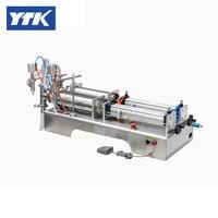 100 1000ml Double Head Liquid Softdrink Pneumatic Filling Machine