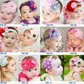 Младенцы цветы жемчуг повязка на голову малыша девочка Hairband волос лента головной убор декор волос