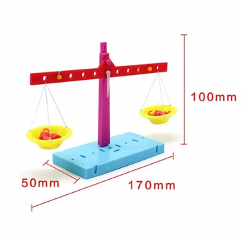 1 Pc/Box Fasinating Interesting Manual DIY Lever Balance Scale for Children Physics & Mathematics Education image