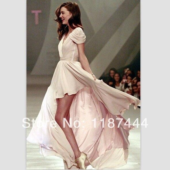 Miranda Kerr V Neck Dresses Liverpool Fashion Fest Autumnwinter
