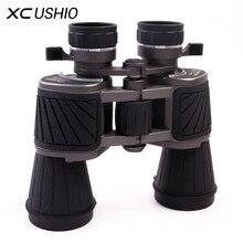 Cheapest prices Zoom Binoculars 10×50 Magnifier Enlarge Eyepiece Caliber Blue Film Coating HD Tripod Interface Anti Shake Telescope Binoculars