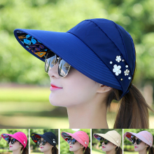 Шляпа для гольфа, Кепка для гольфа, женская летняя Складная Кепка для путешествий, Корейская женская уличная Кепка, анти-ультрафиолет, хлопок, Цветочная Кепка для девушек, бейсбольная Спортивная Кепка