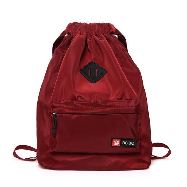 Waterproof Nylon Backpack Women Drawstring Bag Lightweight Summer Beach Bag  for Travel School Bags for Teenage Girls Shoes Bags 42bff956f8838
