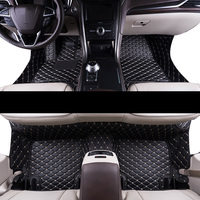 lsrtw2017 luxury fiber leather car interior floor mat for ford mondeo fusion 2000 2020 2019 2018 2017 2016 2015 2014 2013 2012