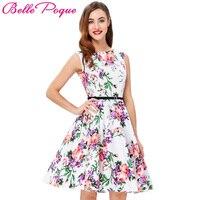 Grace Karin Robe Audrey Hepburn 50s Rockabilly Dress 2016 Sleeveless Plus Size Women Clothing Vintage Casual
