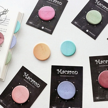 48 pcs/Lot Vintage Macaron memo pad Color cake sticky note post it diary sticker Office accessories School supplies FM693 mixed color sticky note set