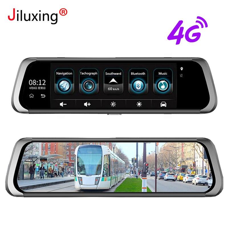 Jiluxing D06S 1080 p 4g Voiture DVR GPS Navigation WiFi Bluetooth 10 plein écran tactile caméras De Voiture miroir deux caméras de Vision Nocturne