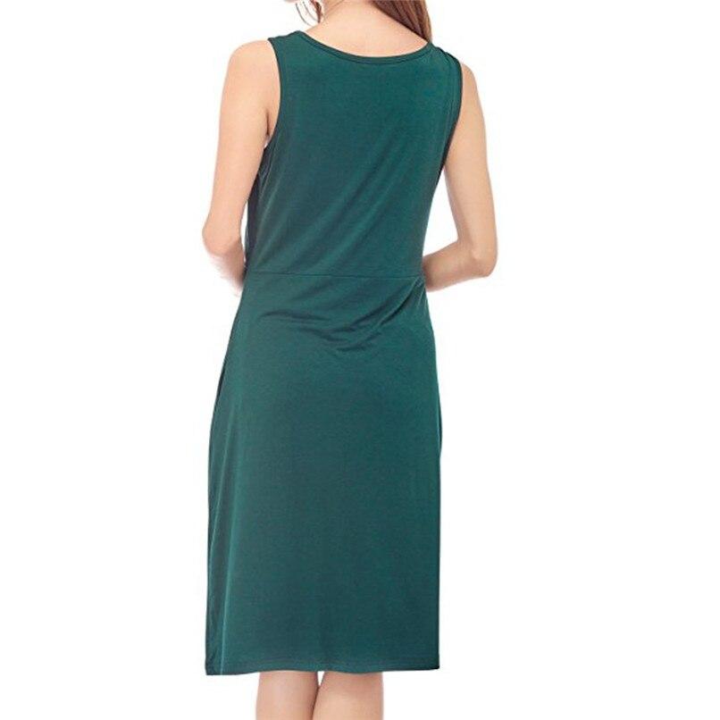 2719c8434a5d ... S-XL Maternity Clothes Summer Fashion Women Pregnants Maternity Nursing  Sleeveless Solid High Waist Mini