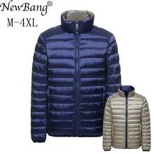 Newbang 브랜드 다운 코트 남성 오리 자켓 남성 가을 겨울 더블 사이드 깃털 뒤집을 windproof lightweigt warm parka