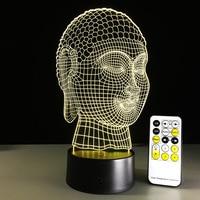 New Year Gift Remote Touch Buddha 3D LED Lamp Power Bank Usb Led Lamp Mini Led
