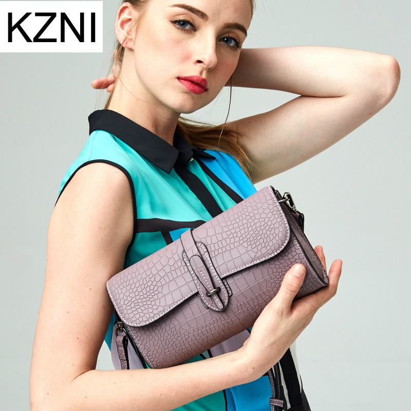 KZNI genuine leather crossbody bags for women famous brand ladies hand bags borse donna marche famose 2016 brand L121856