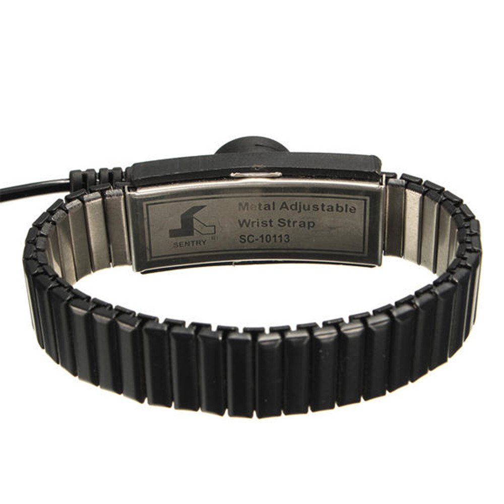 Image 3 - New Anti Static ESD Adjustable Self Defense Work Wrist Strap Discharge Belt Ground Metal Bracelet Pesonal Safety Protector-in Safety Gloves from Security & Protection