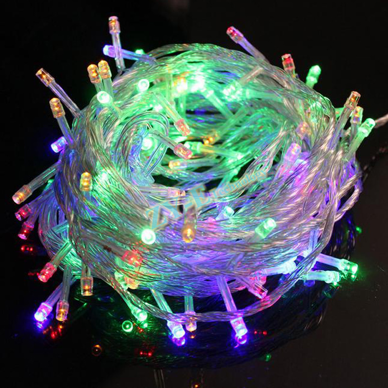 1pcs 10M 100LEDs <font><b>LED</b></font> string light 220/110V Christmas Holiday Wedding Party Garland Lighting Male and female connector free ship image
