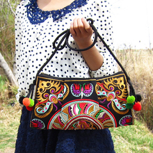 Vintage Embroidery Women Crossbody Bags Ethnic Boho Shoulder Messenger Bag Women's Day Clutch Small Handbag