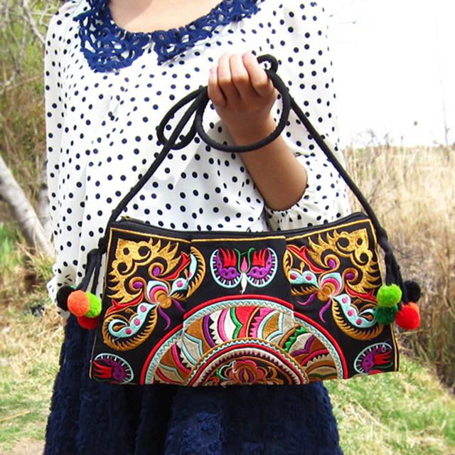 Vintage Embroidery Women Crossbody Bags Ethnic Boho Shoulder Messenger Bag Women's Day Clutch Small Handbag