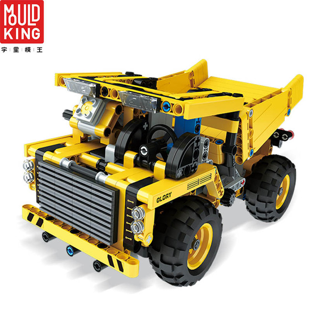 Mould king 13016 engineering team remote control rc truck wagon building blocks kits technic truck toys lepin™ land