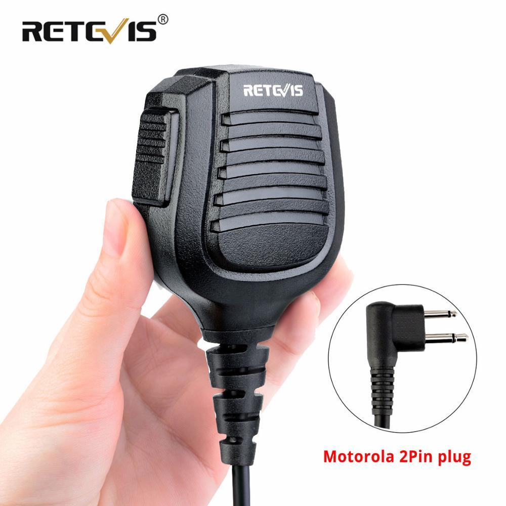 IPX5 Waterproof 2Pin M Plug Speaker Microphone Mics for Motorola Microphone CP200/GP300/GP68/GP88 Retevis RT54 HYT Walkie Talkie(China)