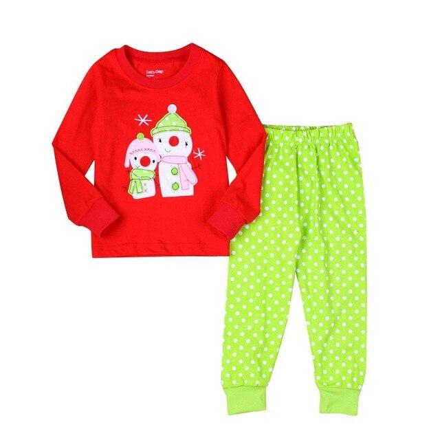 79abb684389c New Christmas Girls Clothes Set Kids pajamas Girls Suits Children ...