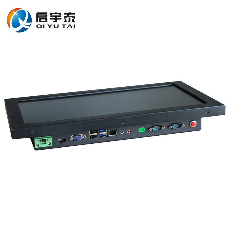 15.6 inch all in one pc industrial panel pc 1366x768 J1900 2.0GHz black metal case 1 year Warranty DHL free shipping