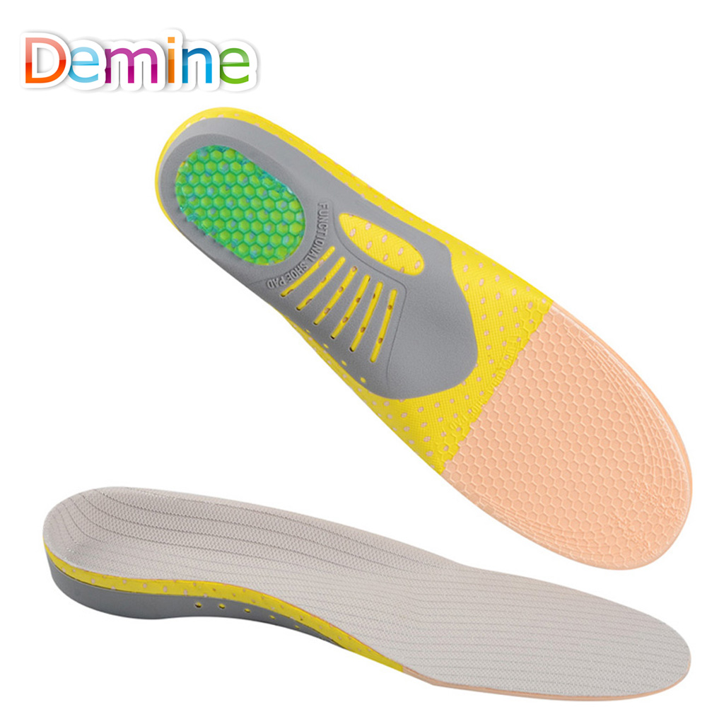 Demine EVA Arch Support Sports Insoles Unisex Plantar Fasciitis Pain Relief Massage Shoes Pad Deodorant Orthotic Cushion Inserts цена