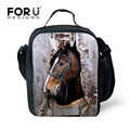 Insulated Thermal Picnic Lunch Bag for Women Keep Warm Kids Animal Horse Lunchbags Bolsa Merienda Boys Food Bag Lunchbox