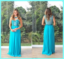 SH-10 A-line Sleeveless Custom Made Blue Sexy Back Long Elegant Prom Dress stenn sh 340 blue
