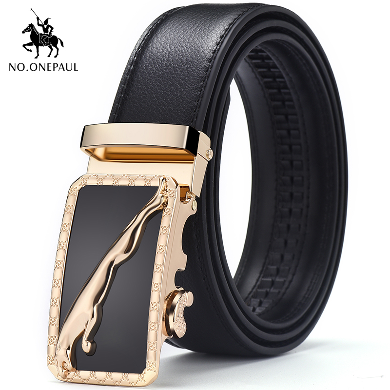 NO.ONEPAUL Men Formal Wear Trendy Business Fashion Simple Belt Youth Wear Preferred Jeans With Belt New Design Automatic Buckle