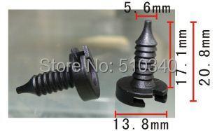 Frete grátis 100 pcs auto car clipe fastener gancho tubulação clipe
