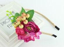 Фрукты цветок головные уборы оголовье Свадебный венок Фото аксессуары свадебные украшения цветка руки и голову цветок