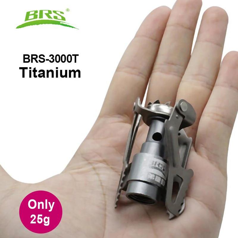 BRS Outdoor Gas Stove  Camping Gas Burner Portable Mini Titanium Stove Survival Furnace Pocket Picnic Gas Cooker Brs-3000t