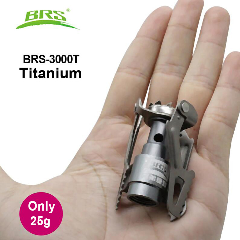 BRS Portable Mini Camping Titanium Stove Outdoor Gas Stove Survival Furnace Stove Pocket Picnic Gas Cooker Gas Burner brs-3000t