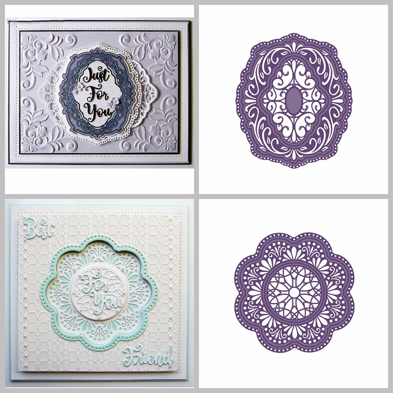 Circle Lace Frame Shape Metal Cutting Dies Stencil For Scrapbooking Embossing DIY Paper Card Handcrafts Decor Templates circle