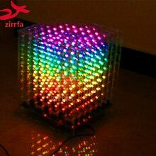 Elektronische Diy Kit 2018 Nieuwe 3D 8 8X8X8 Rgb/Kleurrijke Led Cubeeds Kit Met Uitstekende animaties Christmas Gift Voor Sd kaart
