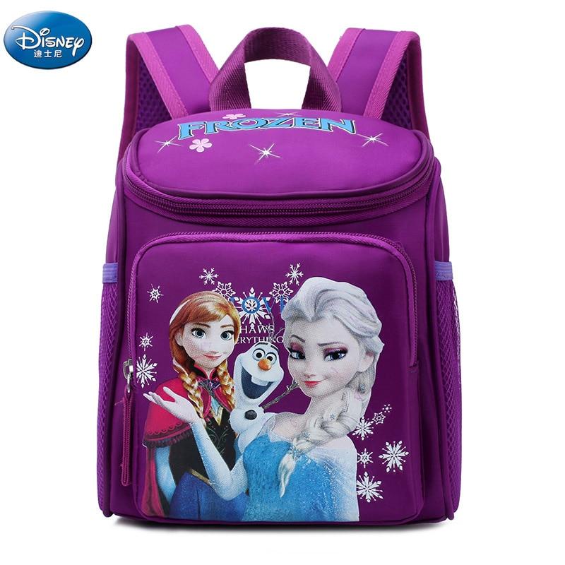 Girls Frozen Elsa AnnaSnow Queen Princess Plush Backpacks Kids Disney  School Bag Breathable Backpack