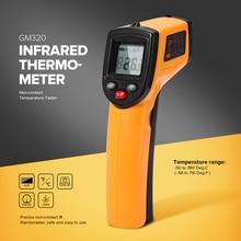 GM320 Инфракрасный термометр бесконтактный Температура тестер ЖК-дисплей Дисплей ИК лазерная точка Gun диагностический инструмент цифровой термометр