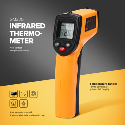 GM320 Infrared Thermometer Non-contact Temperature Tester LCD Display IR Laser Point Gun Diagnostic-tool Digital Thermometer