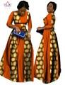 2017 африканский базен платья для женщин африканского длинные рукава платья для женщин в африканских одежды воск dashiki ткань BRW WY516
