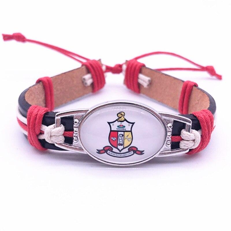 Kappaa Alpha Psi Fraternity Charm Genuine Leather Bracelet Hand made Adjustable Bracelets&Bangles Jewelry For Man Woman 1PCS