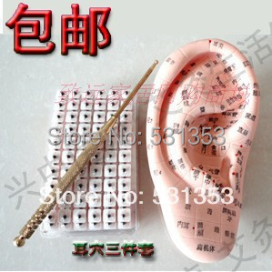 new upgrade ear massage set model english version 12cm /ear acupuncture needle pen /600 beads sticker/ 100pcs box zhongyan taihe acupuncture needle disposable needle beauty massage needle with tube