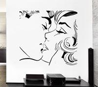 2016 New Couple Kiss Wall Sticker Kiss Kissing Couple Romantic Love Decor For Pop Art Bedroom