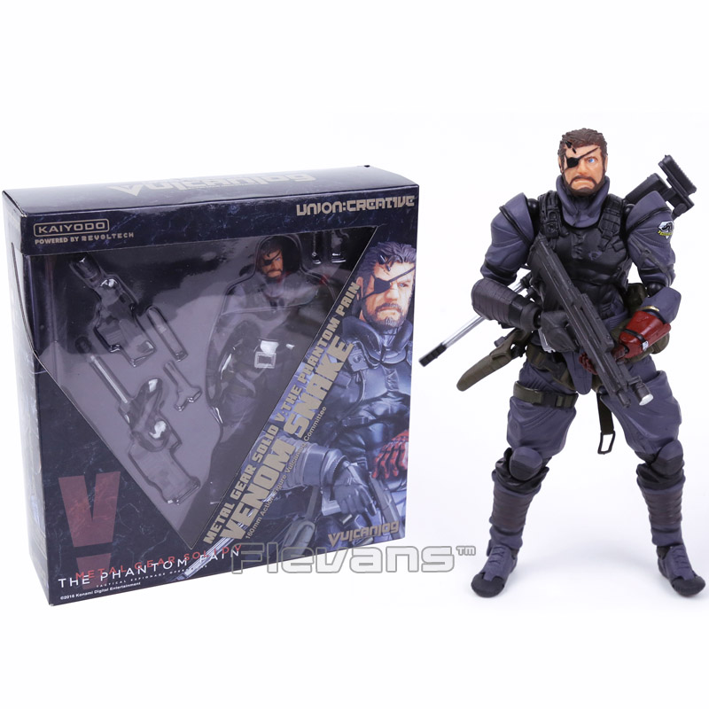 Powered by Revoltech Metal Gear Solid V The Phantom Pain Venom Snake PVC Action Figure Collectible Model Toy neca planet of the apes gorilla soldier pvc action figure collectible toy 8 20cm