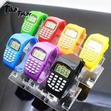 TIke Toker,LED Calculator Watch Electronic Digital Chronograph Computer Kids Children Boys Girls Sport Rubber Wrist Watches