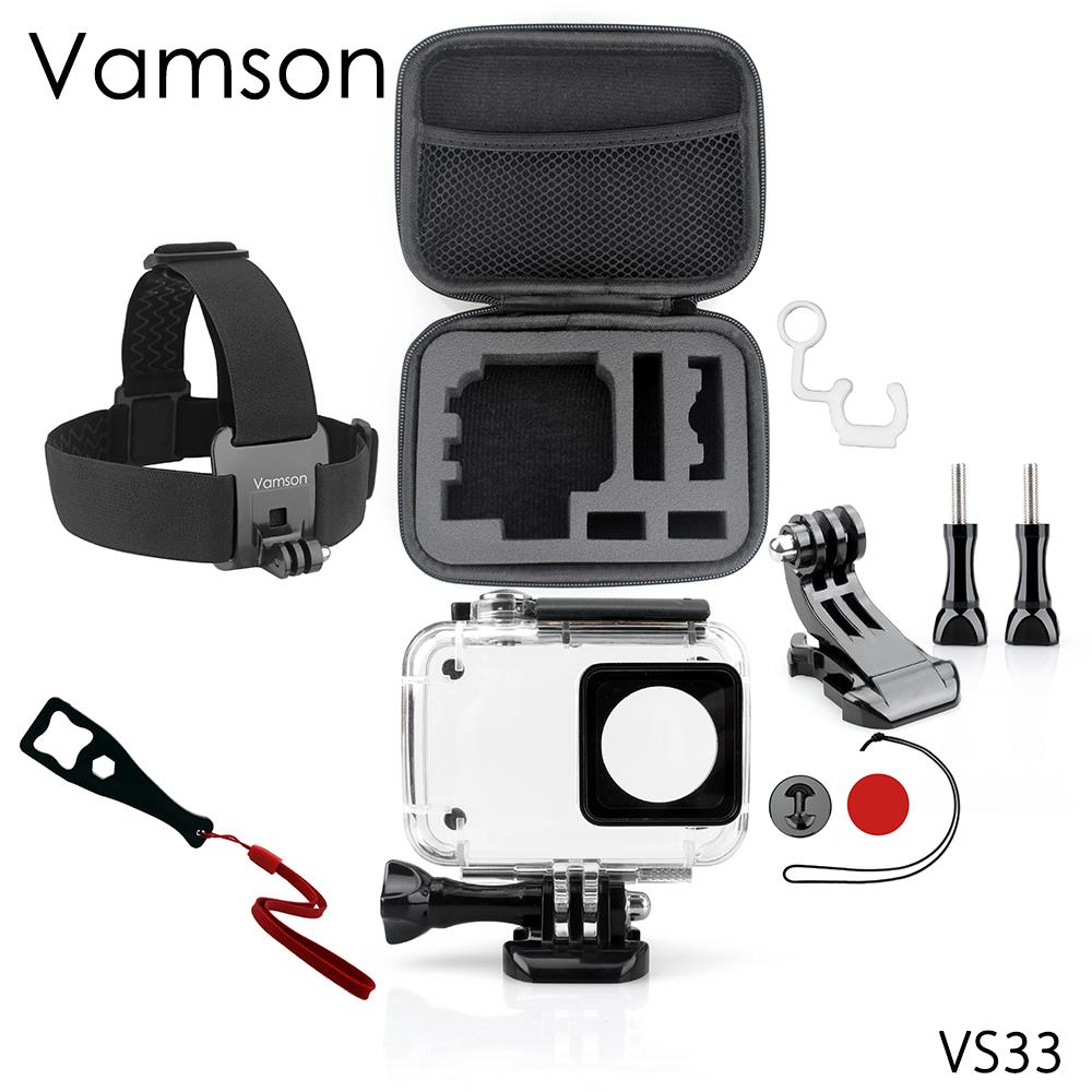 for Yi 4K Accessories Set for Xiao mi for Yi 2 Waterproof housing case Head Strap For Yi 2 4K Action Sports Camera VS33 ...