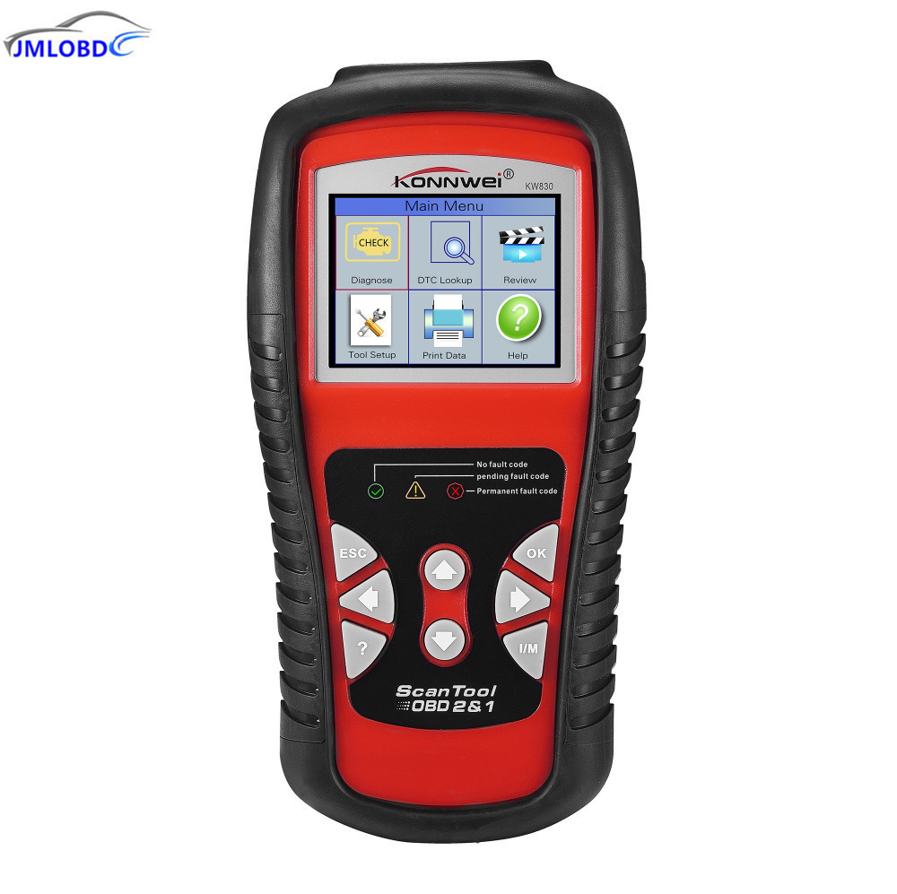 KONNWEI KW830 OBD2 EOBD Car Diagnostics Auto Scanner Automotive Fault Code Reader Diagnostic tool Car detector Automotive Tool 2016 new arrival vs 890 obd2 car scanner scantool obdii code reader tester diagnostic tools 3 inch lcd car detector