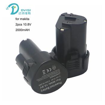 DVISI 2 sztuk 2000mAh 2 0AH 10 8V akumulator litowo-jonowy baterii 2 sztuk 1500mAh 10 8V akumulator litowo-jonowy bateria do narzędzi Makita BL1013 BL1014 BL 1013 BL 1014 LCT203W tanie i dobre opinie Elektronarzędzie Standardowa bateria for bl1013