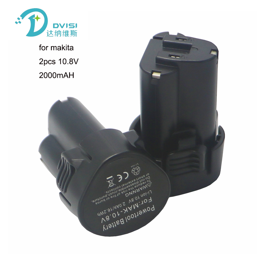 DVISI 2pcs 2000mAh 2.0AH 10.8V Li-ion Battery 2pcs 1500mAh 10.8V Li-ion Battery For Makita BL1013 BL1014 <font><b>BL</b></font> 1013 <font><b>BL</b></font> <font><b>1014</b></font> LCT203W image