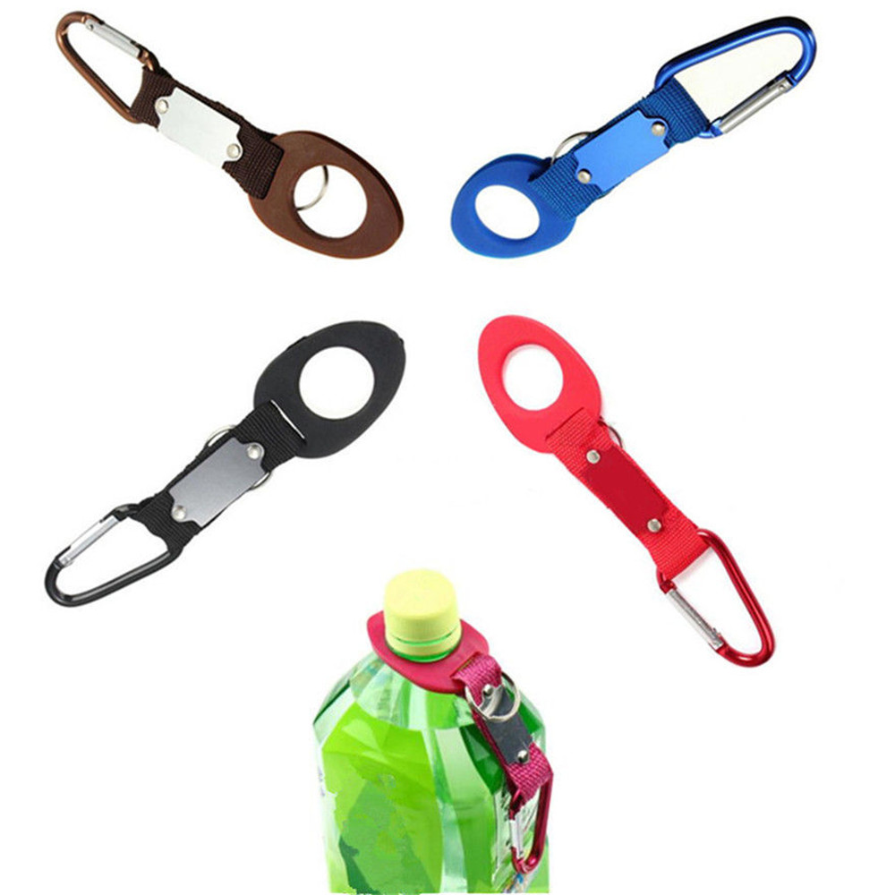 ISKYBOB 1pc Water bottles Hang buckle Hot Sale New buckle Rubber buckle hook Water Bottle Holder Clip buckle Travel Accessories