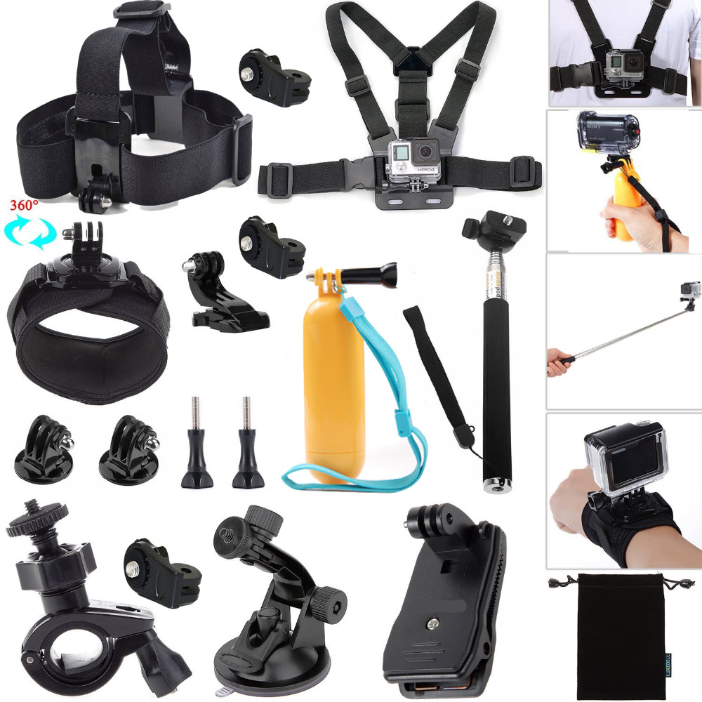 For Gopro HERO-Ion Air Pro-Xiaomi Yi Kit Accessories for Sony Action Cam HDR AS20 AS200V AS30V AS100